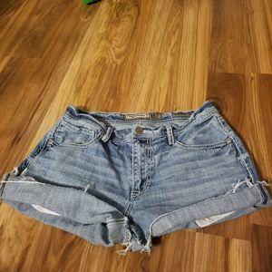 BKE denim cut offs shorts 32 waist fringed